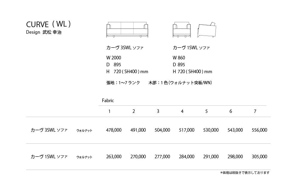 CURVE_WL Price List