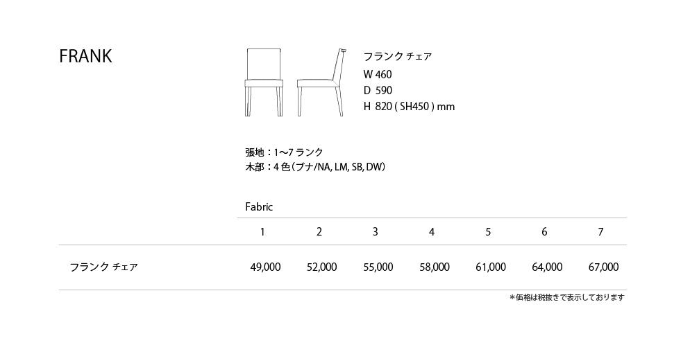 FRANK Price List