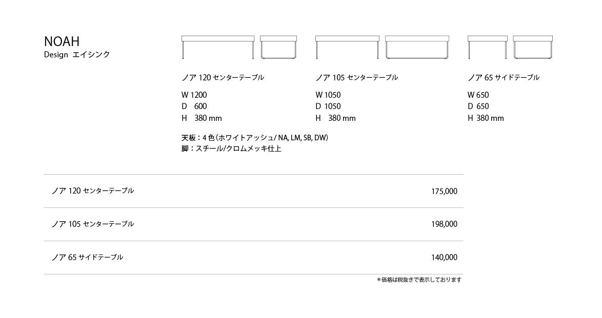 NOAH Price List